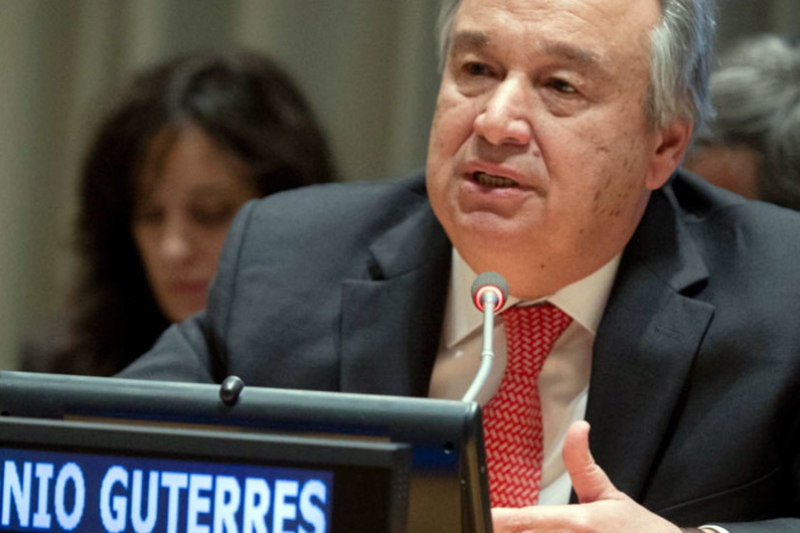 """UN Secretary General Antonio Guterres called for the """"waiving"""" of sanctions on Venezuela and other nations confronting the COVID-19 pandemic. (UN/Manuel Elias)"""